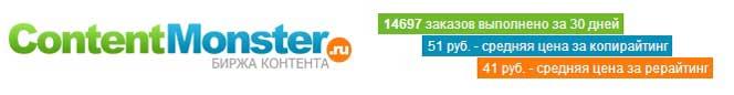 Contentmonster.ru - тестируем новую биржу.