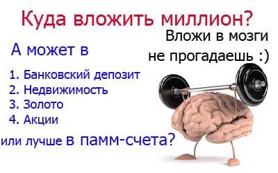 куда вложить миллион рублей - рабочие способы